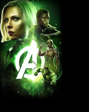 Avengers: Infinity War Apple Watch Wallpaper Hulk - Black widow - Black Panther
